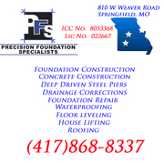 Joplin Missouri Foundation,  Crawl Space & Basement Repair Contractor